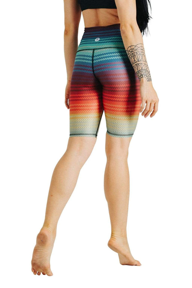 Biker Joey Short in Rainbow Stripe