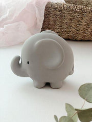 Elephant - Natural Rubber Rattle