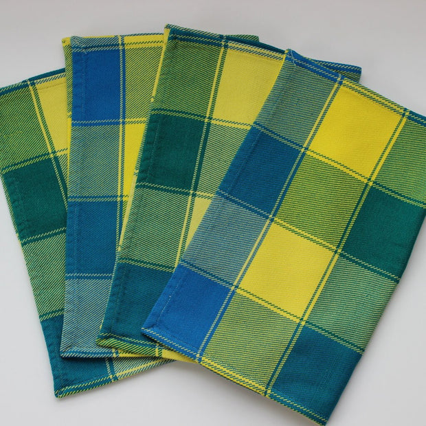 Plaid Twill Placemats | Ocean Yellow