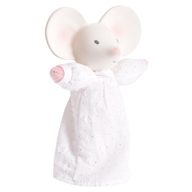 Meiya the Mouse Soft Squeaker With Natural  Rubber Head