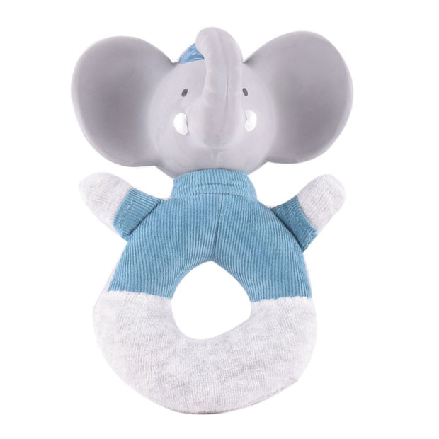 Alvin the Elephant - Soft Rattle with Rubber Head