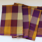Plaid Twill Table Runner | Mustard & Eggplant
