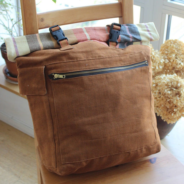 Rolltop Backpack | Caramel Brown