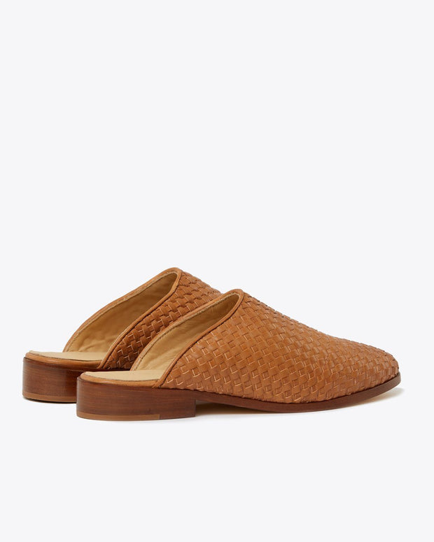 Ama Mule Woven Brown