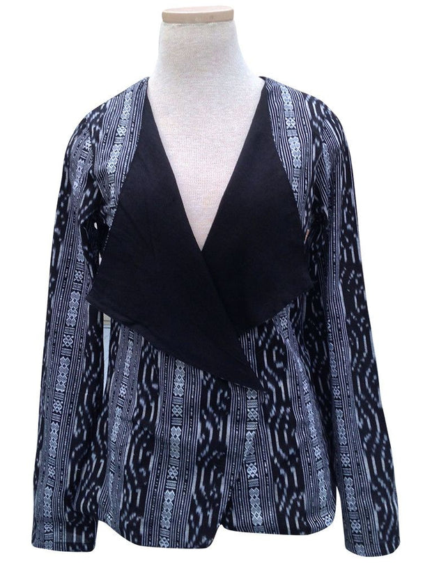 Black Ikat Jacket