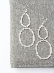 Bouldering Earrings - Silver