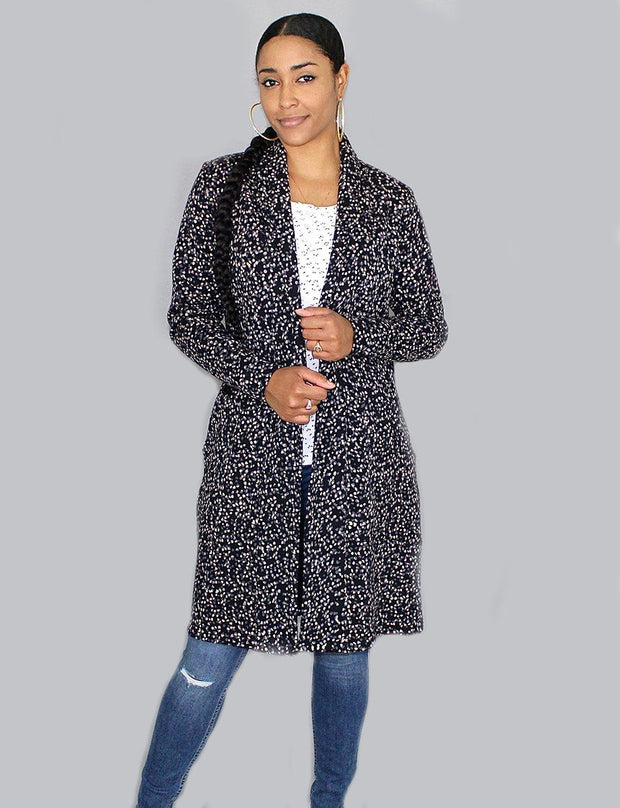 Brooklyn Long Organic Fleece Cardigan