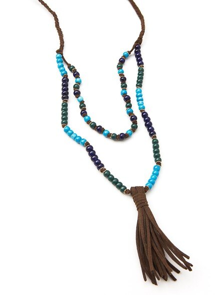 Rosario Ceramic Tassel Necklace