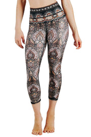 Espresso Yourself Printed Yoga Crops