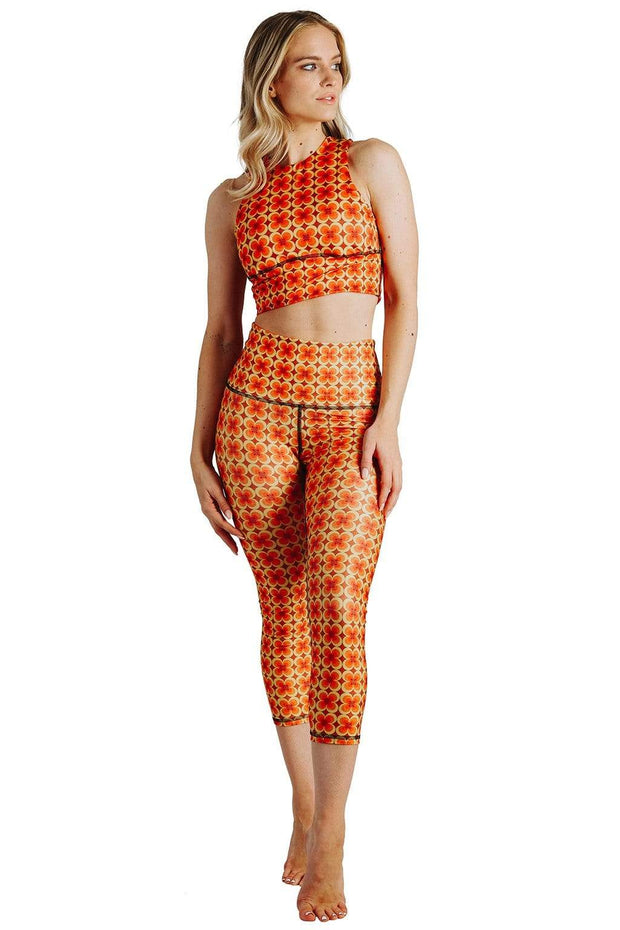 Groovy Girl Printed Yoga Crops