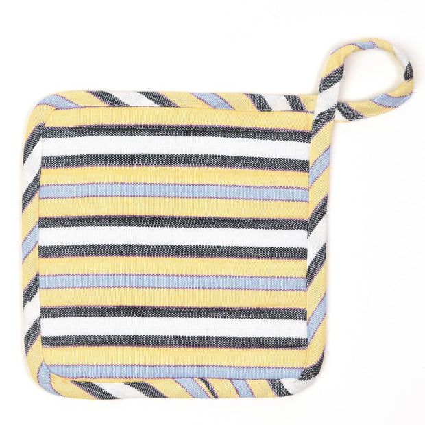 Square Pot Holder | Country French Stripes