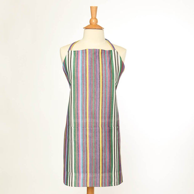Bib Apron | Soft Multi Stripes