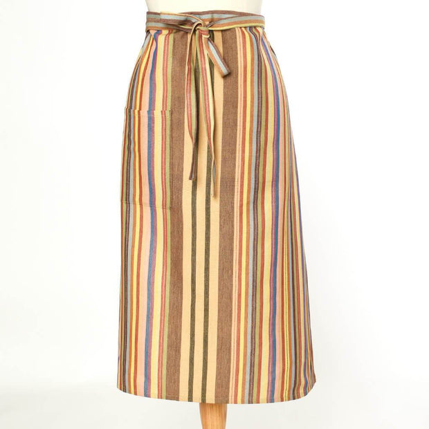Bistro Apron | Earth tone Stripes