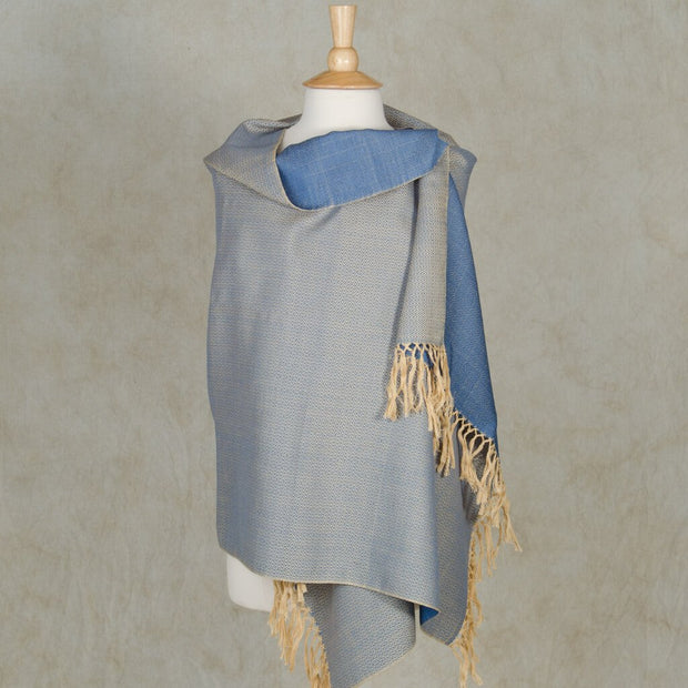 Soft & Neutral Shawl | Champagne & Blue Gray