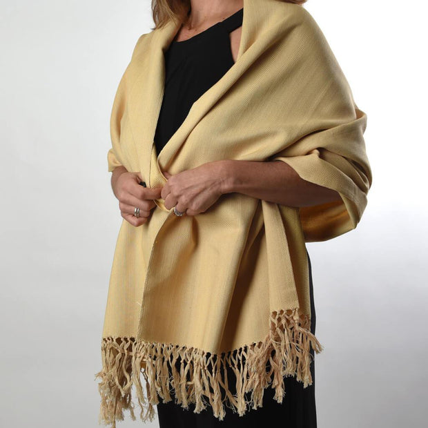 Soft & Neutral Shawl | Champagne Herringbone