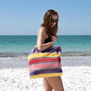 Beach Tote Bag | Carousel Stripes