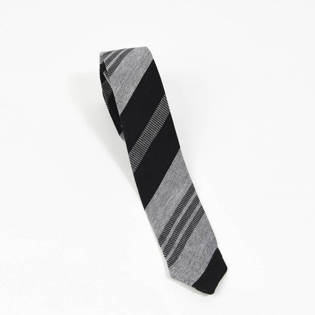 Men's Tie | Black & Gray Stripes