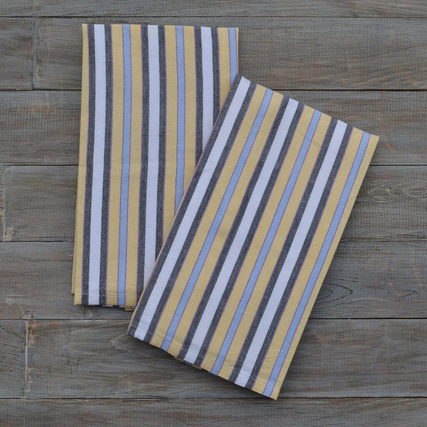 Striped Kitchen Towels Country French