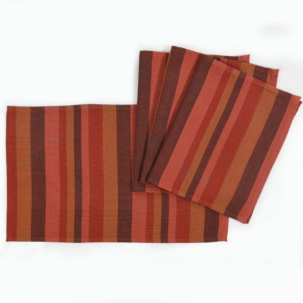 Striped Placemats | Pumpkin Spice