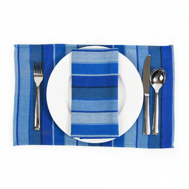 Striped Placemat Set | Stormy Blues