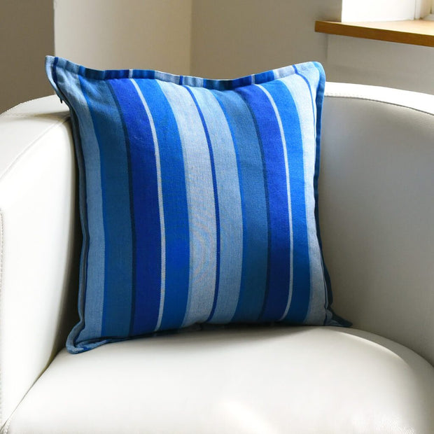 Mayamam Stripes Pillows | Stormy Blues