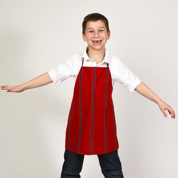 Children's Apron Cajola Red Stripes