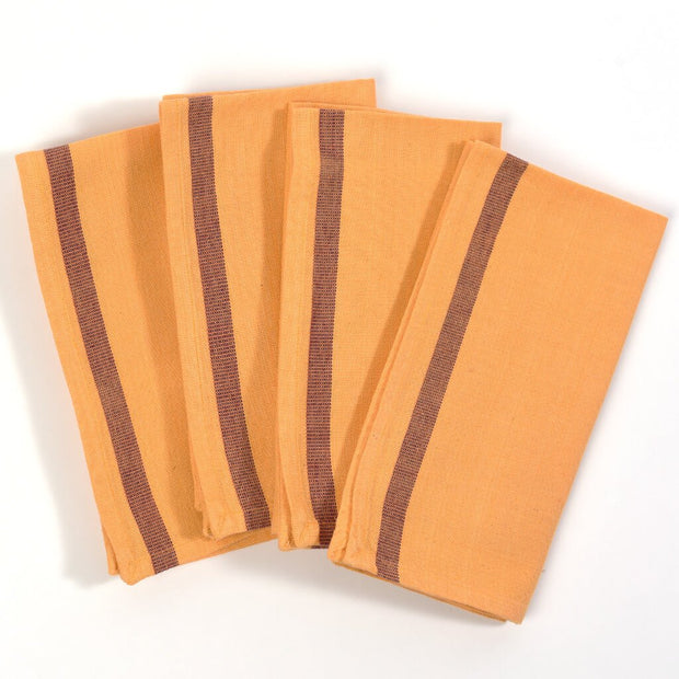 Apricot Celebration Napkins Single Stripe