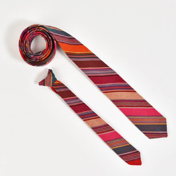 Men's & Boy's Tie Matching Set | Berry Jubilee Stripe
