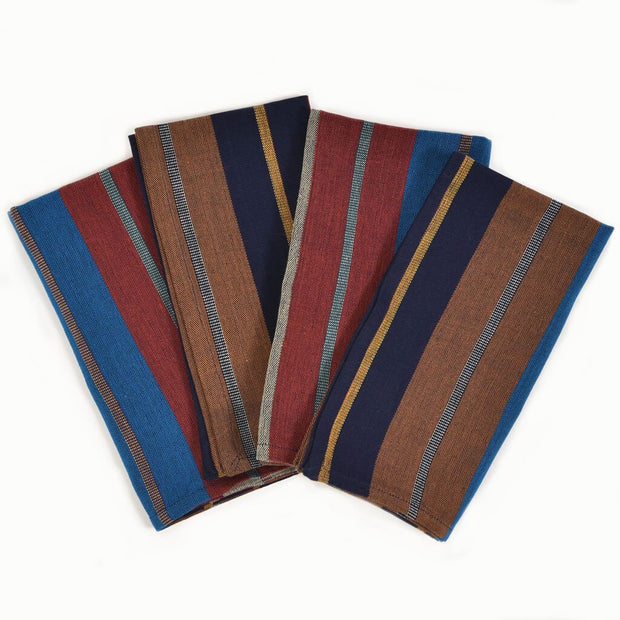 Table Napkins | Wide Indigo Stripe