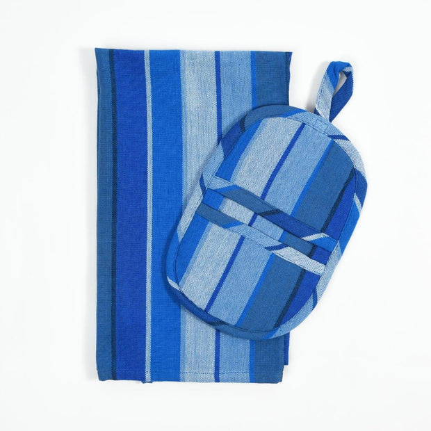 Dish Towel & Pot Holder Gift Set | Stormy Blues