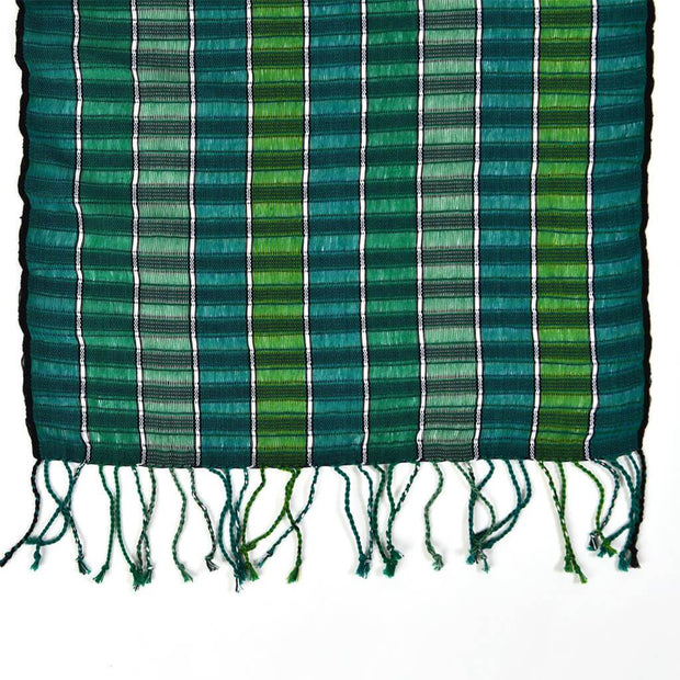 Fringed Gossamer Scarf | Fresh Greens