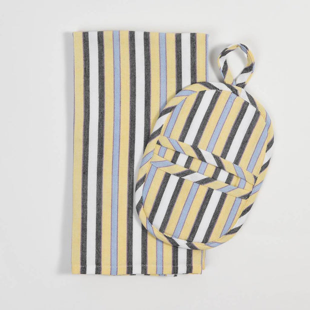 Dish Towel & Pot Holder Gift Set | Country French Stripes