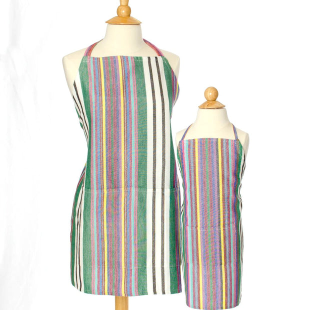 Child & Adult Matching Bib Aprons | Soft Multi Stripes