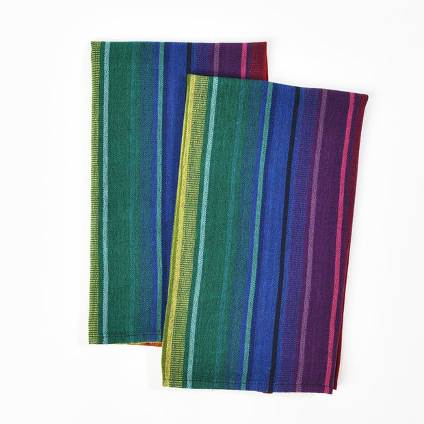 Striped Kitchen Towels | Rainbow