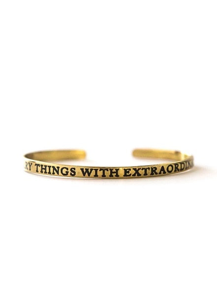 Extraordinary Love Cuff - Brass