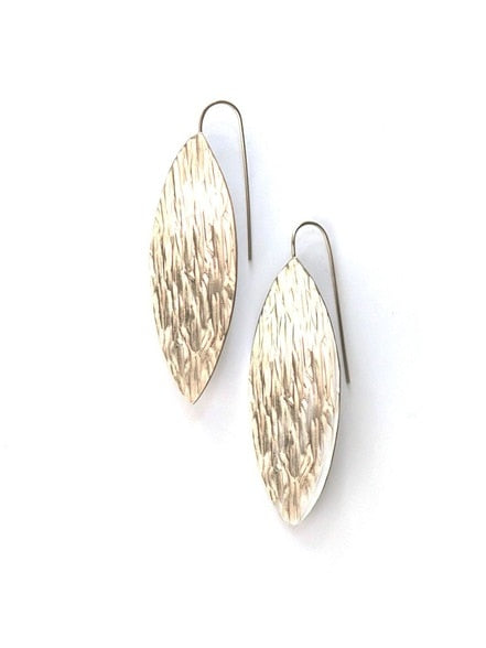 Glacial Striation Earrings - Silver