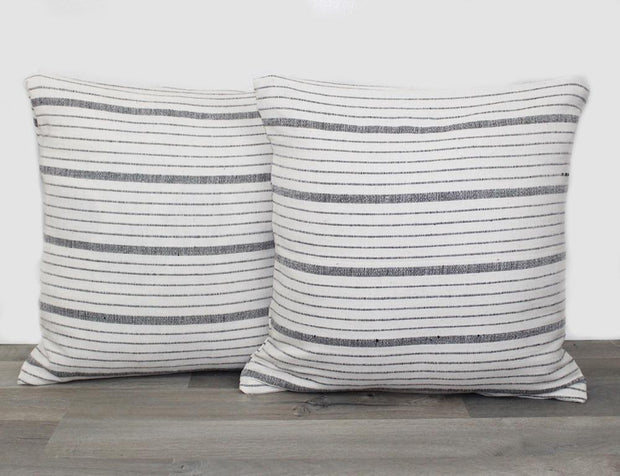 Grey Stripe Pillowcase