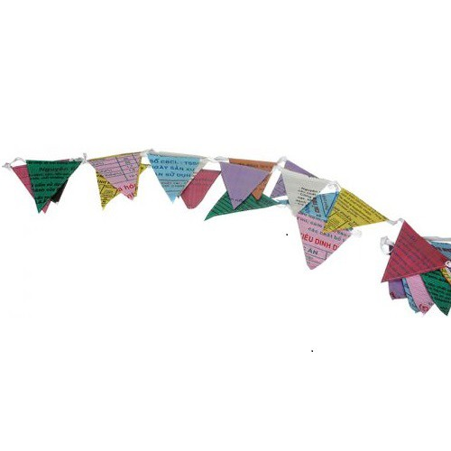 Recycled Banner - Multicolor Penant