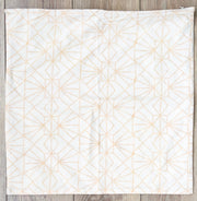 Organic Cotton Reversible Sham in Art Deco/Baby Cacti Cream + Tan