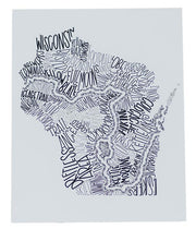 "Ice Age Trail Word Art Print 8""x10"""