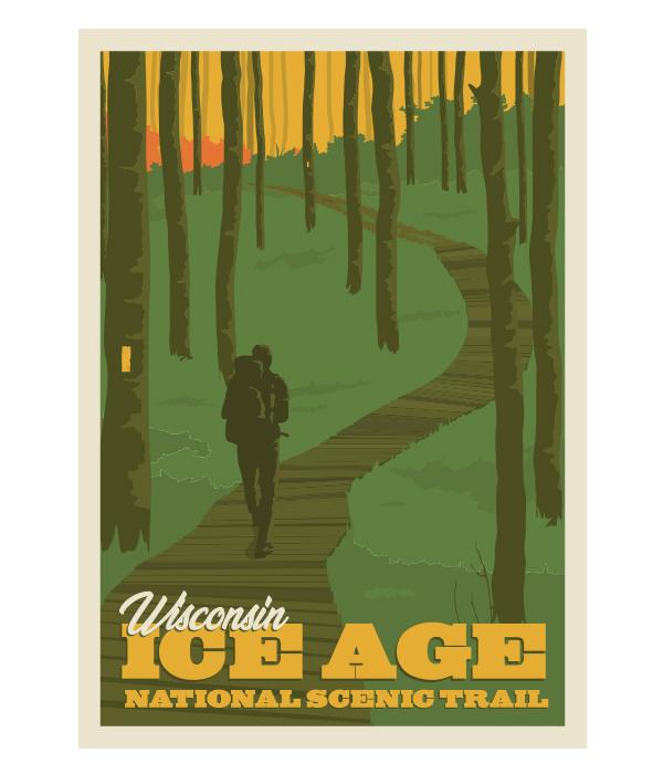 "Ice Age Trail Boardwalk Poster 11""x17"""