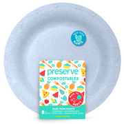 Large Compostable Plates | 8 Count