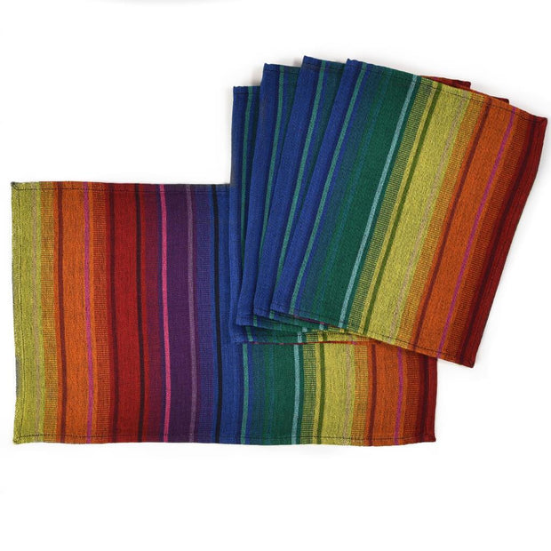 Striped Placemats | Rainbow