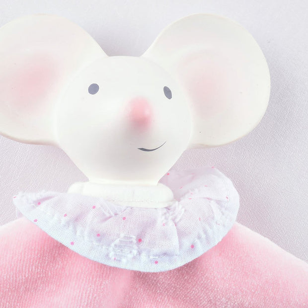 Meiya the Mouse - Puppet Snuggly with Rubber Head