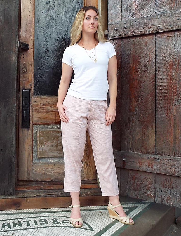 Peachy Rosé Crop Pants