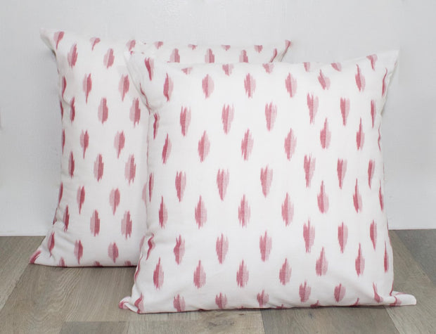 Pink Abstract Dots Throw Pillow Cover