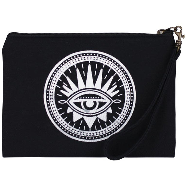 Statement Pouch-Evil Eye-Black