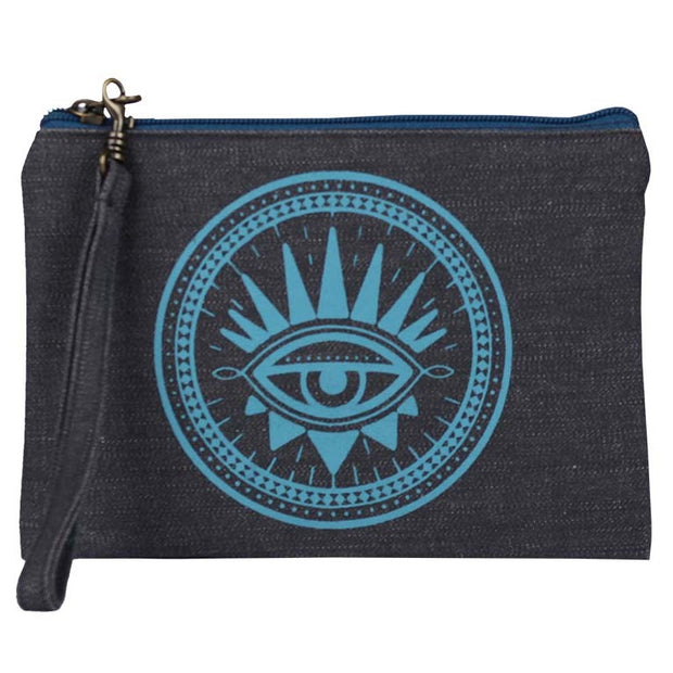Statement Pouch-Evil Eye-Blue
