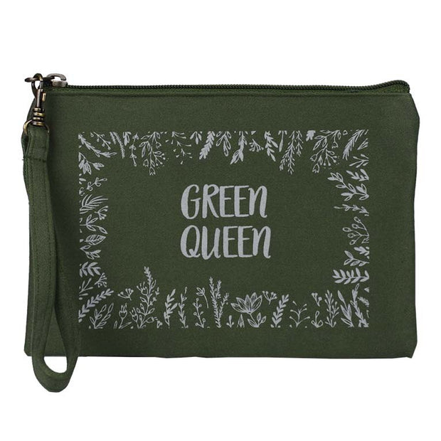 Statement Pouch-Green Queen