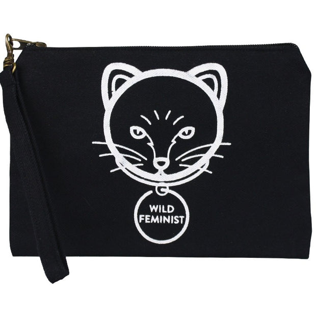 Statement Pouch-Cat Feminist
